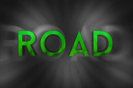eslogan: Lema carretera texto Foto de archivo