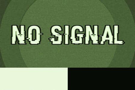 no signal: No Signal Video Glitch Texture Stock Photo