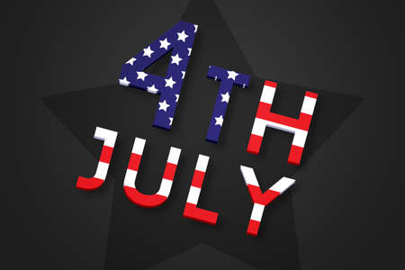 one person only: America Independence Day Dark Backdrop Stock Photo