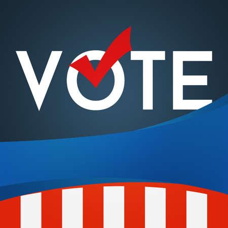 election vote: USA Election Vote Square Banner