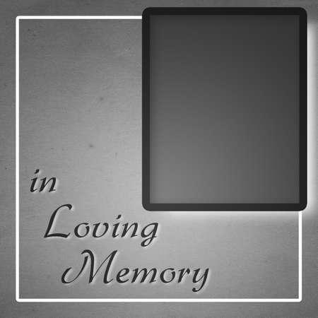in loving memory: In Loving Memory Mourning Square Background