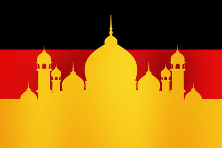 suface: Islamic Mosque in Germany Background