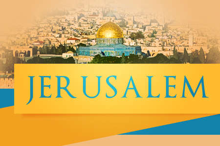 estrella de david: Jerusalén, fondo judío