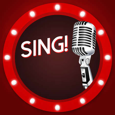 Sing Karaoke Banner Background