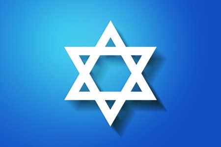 Blauwe Joodse achtergrond Stockfoto