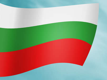 Hungary Flag Above Simple Stock Image