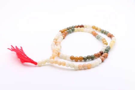 Bead Necklace on White Background