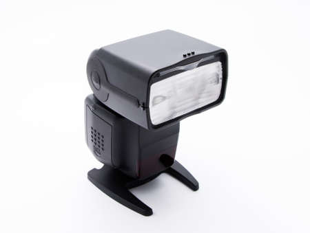 External Flash for DSLR Camera_Front Isolated on White Background