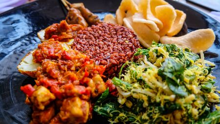 indonesian food: Typical indonesian food dish Stock Photo