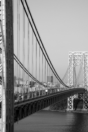 new jersey: View of the George Washington Bridge from the New Jersey side. Stock Photo