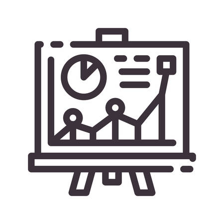 Project vector line icon. Business presentation. Startup training. Button for web or mobile app. UI / UX user interface. Editable stroke.