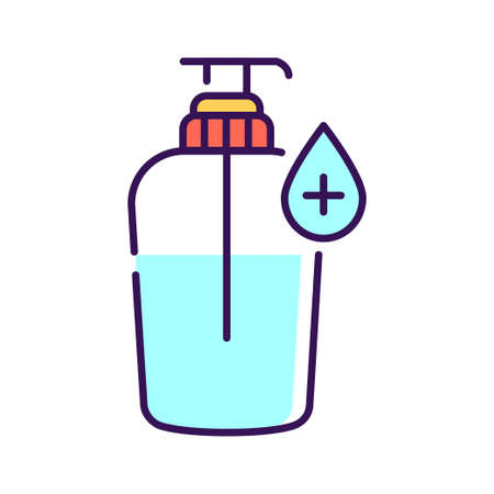 Antibacterial soap color line icon. Hygiene product. Pictogram for web page, mobile app, promo. UI UX GUI design element.