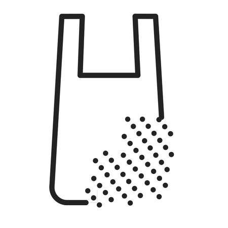 Recyclable package black line icon. Waste recycling. Biodegradable polymers. Fast recycle product. Outline pictogram for web page, mobile app, promo.