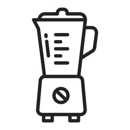 Blender black line icon. Kitchenware. Household equipment. Sign for web page, mobile app, banner. Vector illustration