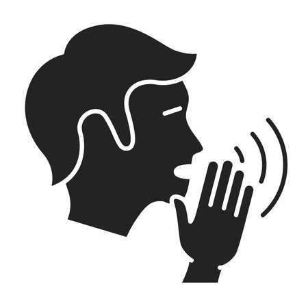 Engage in gossip black glyph icon. Insult, bad attitude concept. Isolated vector element. Outline pictogram for web page, mobile app, promo. Vector illustration