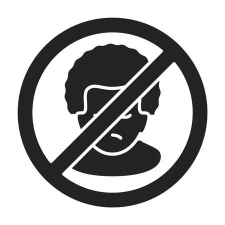 Threat to human life black glyph icon. Harassment, and violence. Human rights. Isolated vector element. Outline pictogram for web page, mobile app, promo. Vector illustration Ilustracja