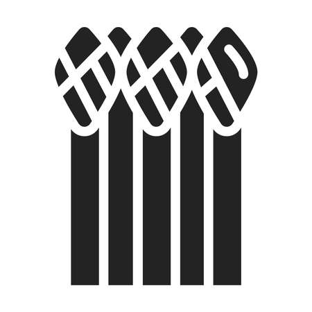 Asparagus black glyph icon. Healthy, organic food. Proper nutrition. Natural vegetable.