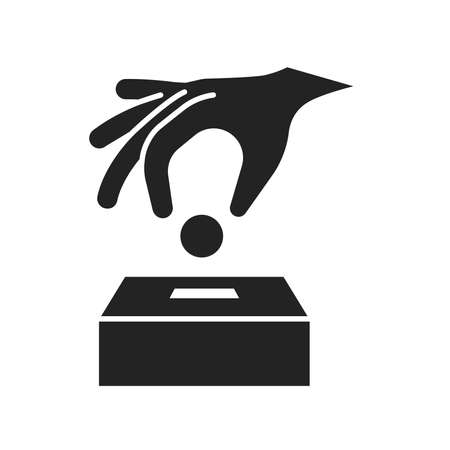 Donation money black glyph icon. Charity concept. Ð¡ontribution aid. Fundraising. Pictogram for web page, mobile app, promo.
