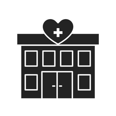 Hospital volunteering black glyph icon. 24 hours support sign. Palliative help.Outline pictogram for web page, mobile app, promo.