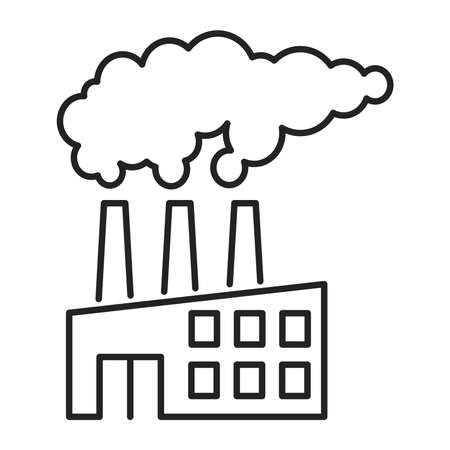Air pollution black line icon. Eco problems. Isolated vector element. Outline pictogram for web page, mobile app, promo. Vector illustration. Vector illustration Ilustracja