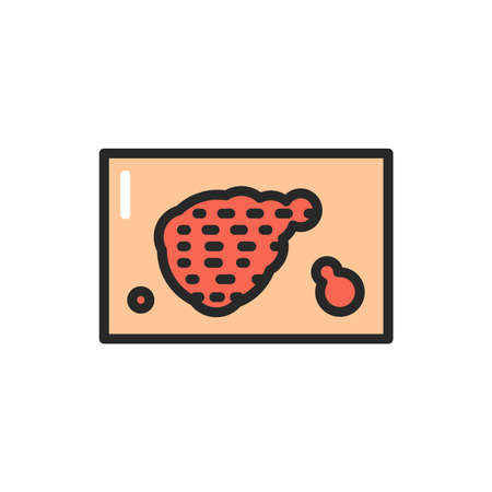 Psoriasis disease color line icon. Isolated vector element. Outline pictogram for web page, mobile app, promo