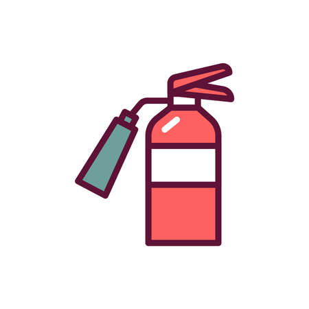 Fire department color line icon. Isolated vector element.