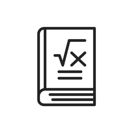 Maths book color line icon. Outline pictogram for web page, mobile app, promo