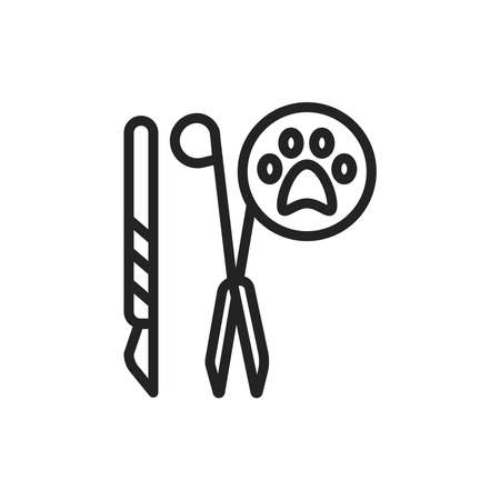 Sterilization black line icon. Birth control. Isolated vector element. Outline pictogram for web page, mobile app, promo.