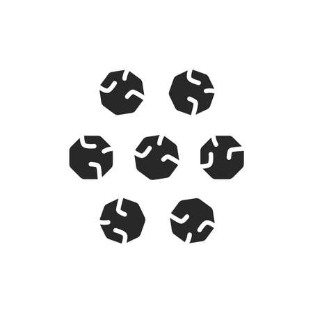 Black pepper black glyph icon. Vector illustration. Ilustração