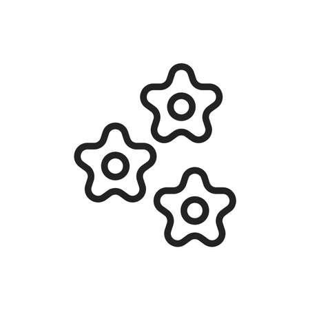 Original italian pasta Stelline color line icon. Isolated vector element.
