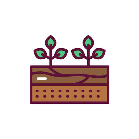 Growing plants line icon. Isolated vector element.