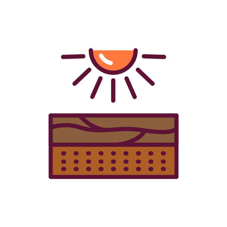 Light, energy line icon. Isolated vector element. Illustration