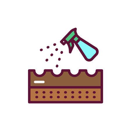 Splashing soil line icon. Isolated vector element. Illustration