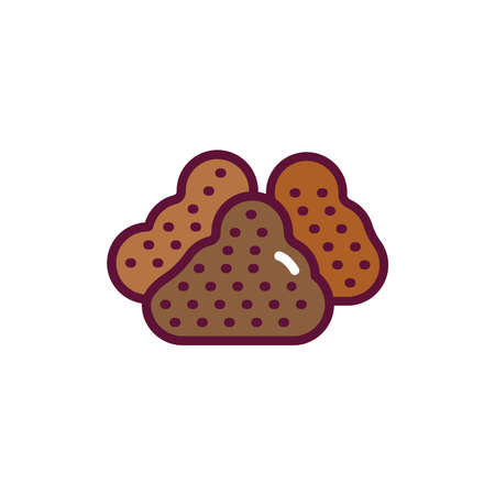 Types soil line icon. Isolated vector element. Illustration