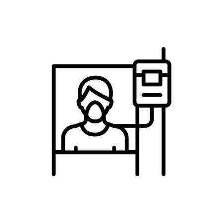 Hospital ward line icon. Isolated vector element. Illustration