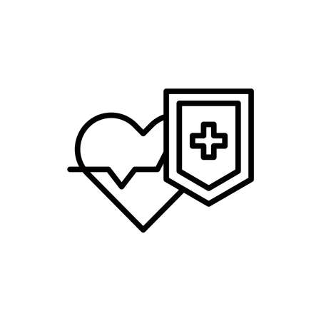 Protection health care line icon. Isolated vector element.