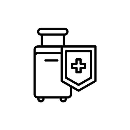 Safe travel line icon. Isolated vector element.