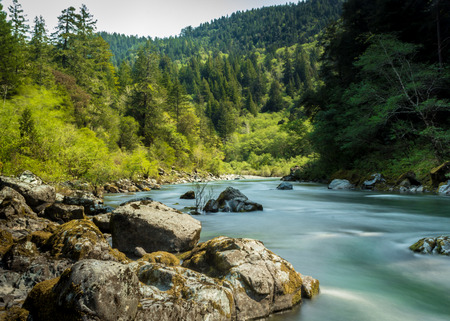 river trunk: Smith River Stock Photo
