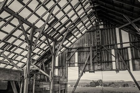 barn black and white: Abandoned Barn, Black and White Image, USA