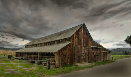 An Old Barn, Panoramic Color Image, USA