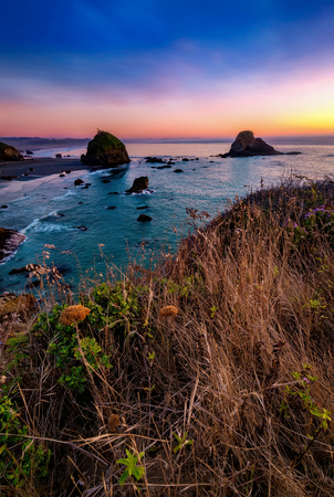Sunset at a Rocky Northern California Beack
