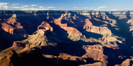 sidelit: Overview of Grand Canyon at sunset