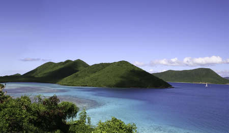 st john: Seascape off St John island in the Caribbean