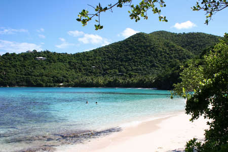 st  john: Beach and Bay on the Caribbean island of St John Stock Photo