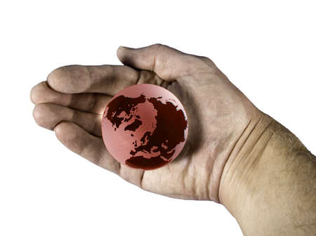 Holding the overheated earth in our hands Stock Photo - 2558644
