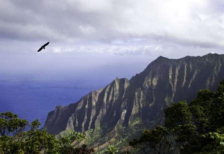 View of the Na Pali coast of Kauai Reklamní fotografie
