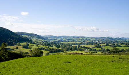 countryside landscape: Landscape of rolling welsh countryside