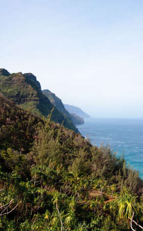 shorebreak: View of Na Pali coast from the Kalalau trail