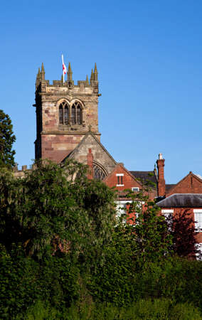 English church over the roofs of an old town in Shropshire Stock Photo - 5113340