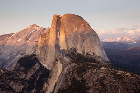 Yosemite Valley with Half Dome in the setting sun Stock Photo - 5300258